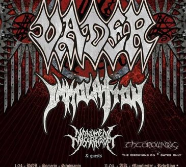 Vader and Immolation – Tour!!! Rise of the Empire 2017