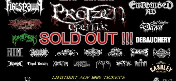 SOLD OUT  – – –  Protzen Open Air 2018  !!!