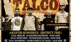 TALCO Akustik-Konzerte – Eintritt Frei: Berlin, München, Hamburg