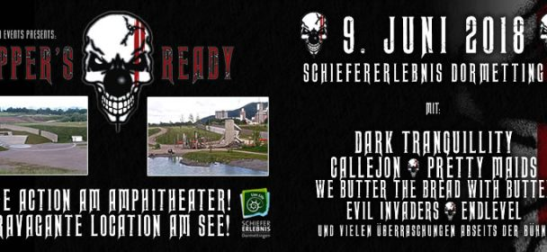 SUPPER'S READY 2018  am 9. Juni in SchieferErlebnis Park Dormettingen mit u.a. DARK TRANQUILLITY, CALLEJON